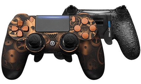 PlayStation 4 professional controller Infinity4PS PRO Steampunk