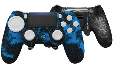 PlayStation 4 professional controller Infinity4PS PRO Digital Camo Blue