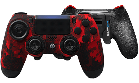PlayStation 4 professional controller Infinity4PS PRO Digital Camo Red