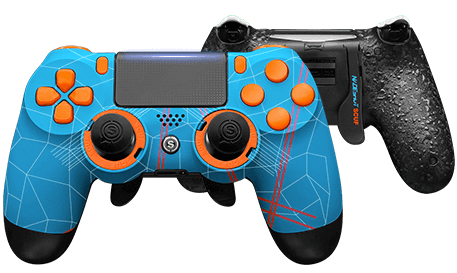 PlayStation 4 professional controller Infinity4PS PRO Nadeshot Blue