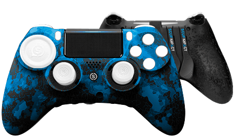 PlayStation 4 professional controller SCUF IMPACT Digital Camo Blue