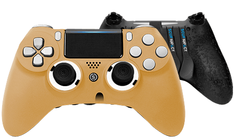 PlayStation 4 professional controller SCUF IMPACT Anodized Gold