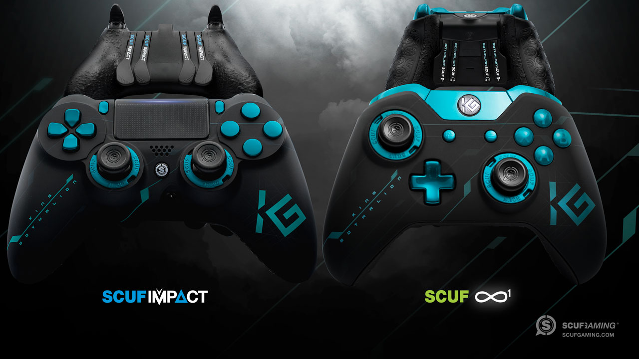 Gothalion custom professional Xbox and PlayStation controllers
