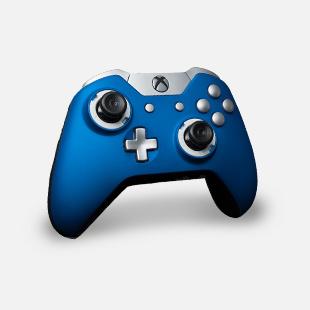 xbox custom blue controller