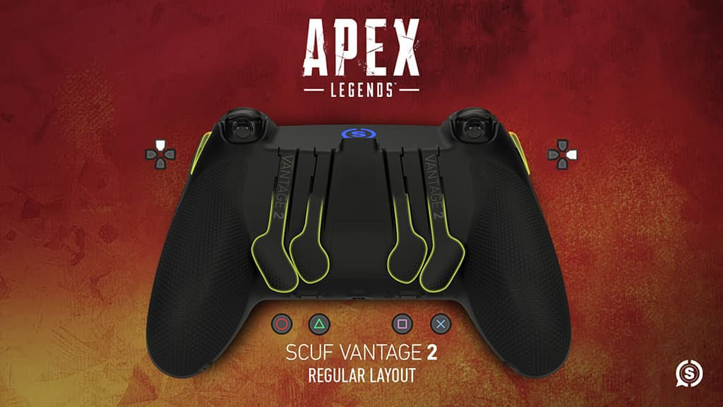 SCUF Vantage 2 controller Apex Legends regular layout