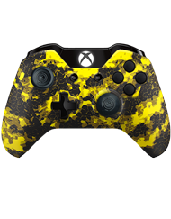 front SCUF ONE DIGITAL CAMO YELLOW