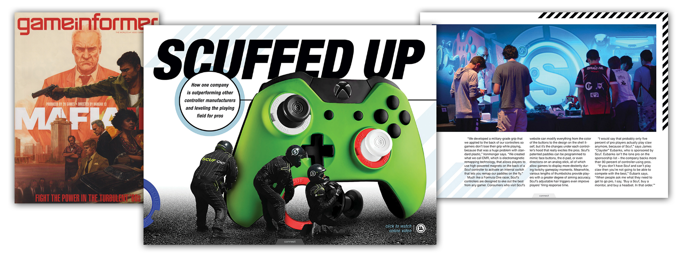 SCUF Game Informer article